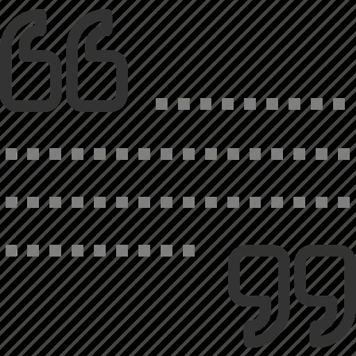 comment, quotation, quote, script, speech, testimonial, text icon