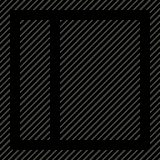 editor, left, sidebar, text icon