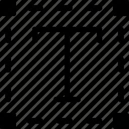 box, editor, file, format, text icon