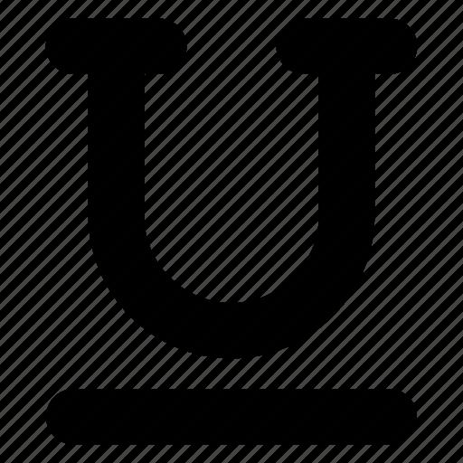 font, type, typography, underline icon