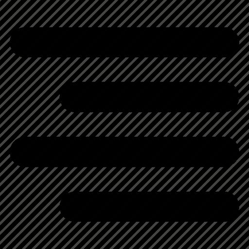 align, alignment, format, right, right align, text icon