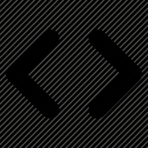 code, embed, html, insert code icon