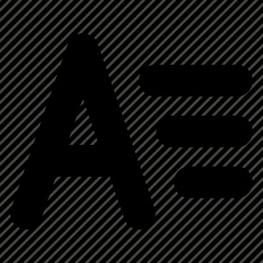 font, type, typography icon