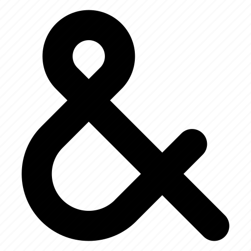 &, ampersand, character, font, type, typography icon