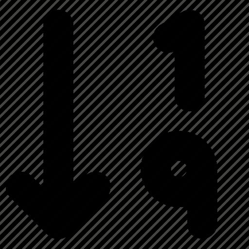 order, sort icon