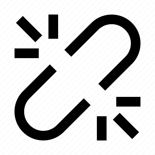 broken, link, unlink icon