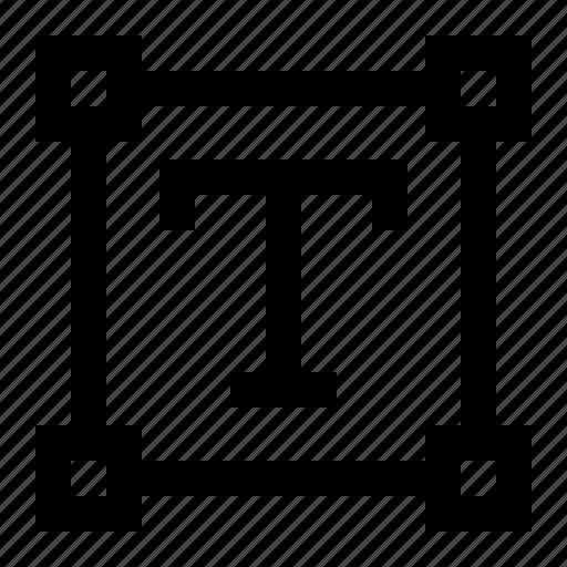 area, box, text, type, write icon