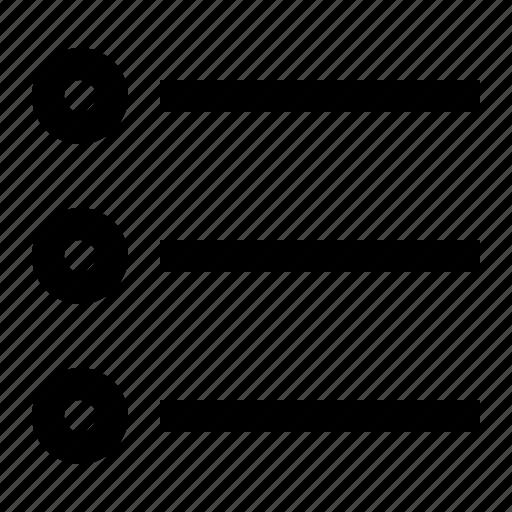 bullet, list, text icon