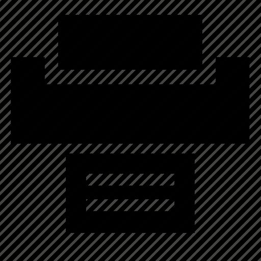 document, file, print, printer, text icon