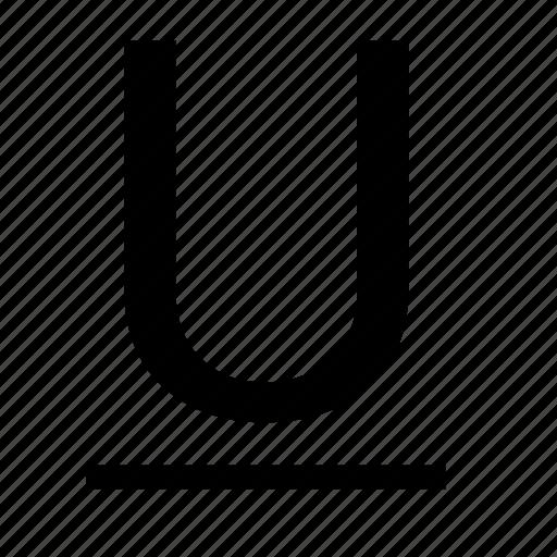 edit, format, text, underline icon