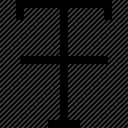 letter, strike, through, typography icon