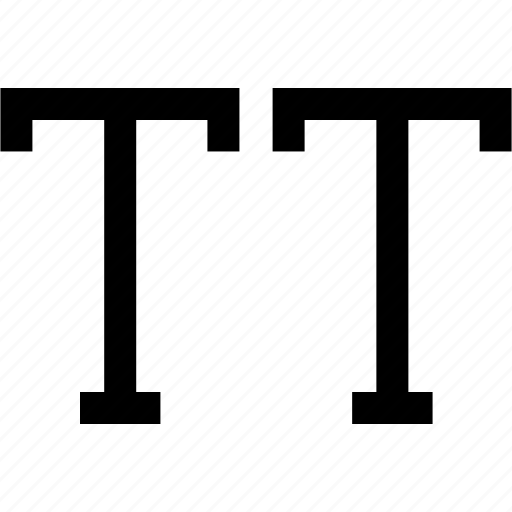 all caps, author, edit, kapital, text, type, typography icon