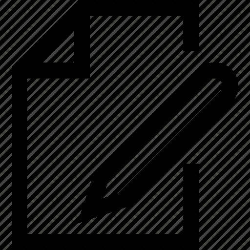 document, old, paper×, pen, pencil, write icon