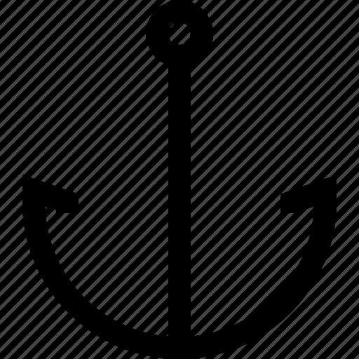 anchor, clickable, link, ship, text, website icon