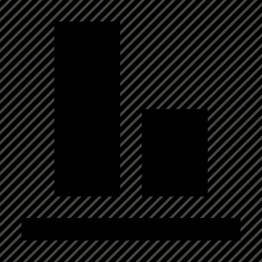 align, alignment, arrange, arrangement, bottom, layout icon