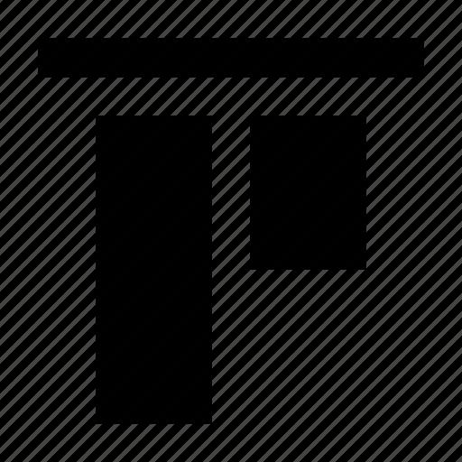 align, alignment, arrange, arrangement, layout, top icon