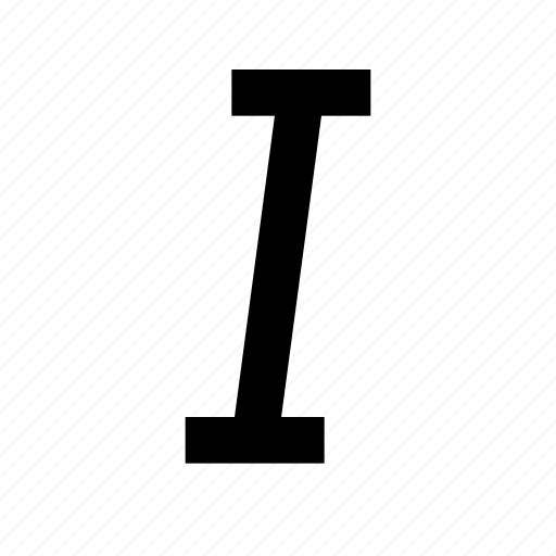 italic, letter, paragraph, solid, style, text, type icon