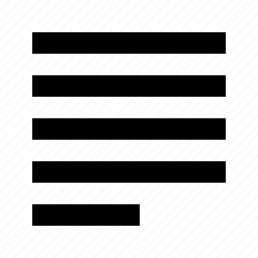 justify, letter, paragraph, style, text, tool, type icon