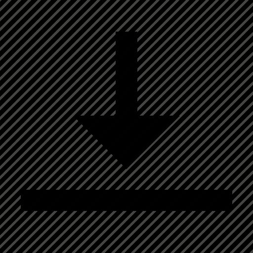 align, alignment, arrange, arrangement, bottom, layout, vertical icon