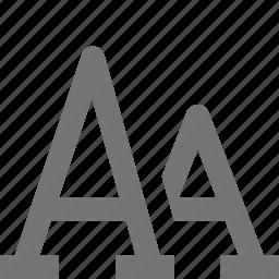 font, font size icon