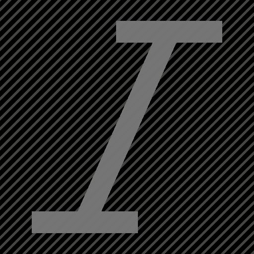 italic, italics icon