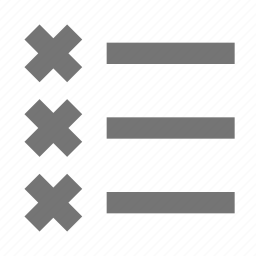 bullet list, list icon