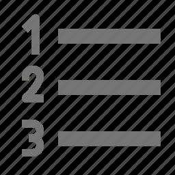 list, numbered list icon