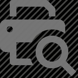 print, print preview, printer, view icon