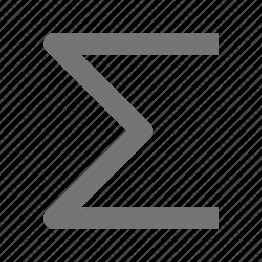 sigma, sum icon