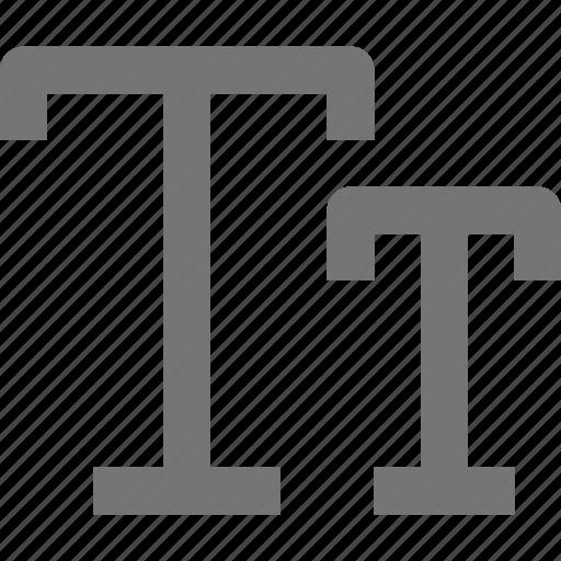 caps, fonts icon