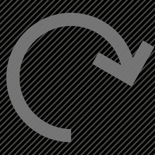 arrow, redo icon