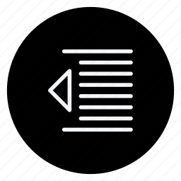 align, email, left indent, mail, sign, text, type icon