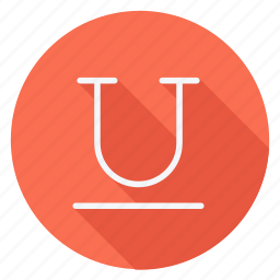 align, email, mail, sign, text, type, underline icon