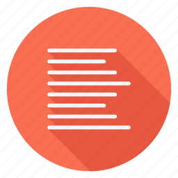 align, email, left alignment, mail, sign, text, type icon