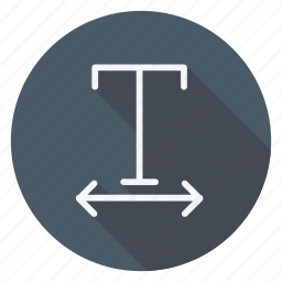 align, email, mail, sign, text, type, undelined icon