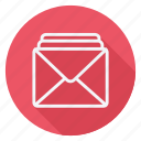 email, envelope, letter, mail, message, text, three emails icon