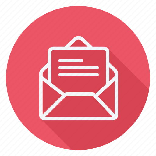 email, envelope, letter, mail, message, open message, text icon