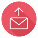 align, email, mail, mail upload, send, text, type icon
