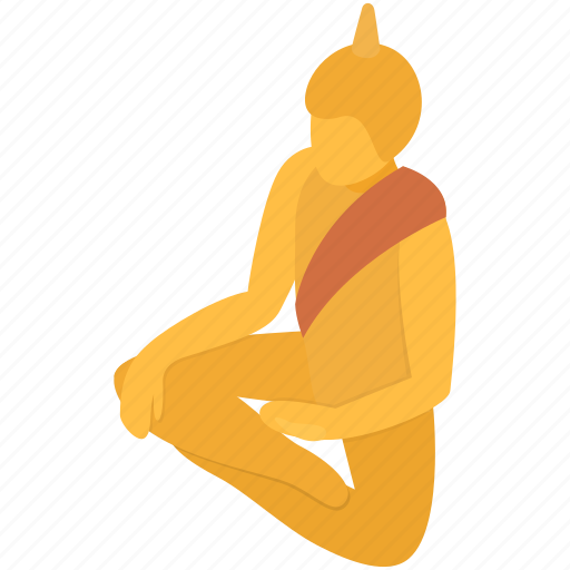 background, buddha, isometric, religion, sitting, spiritual, statue icon