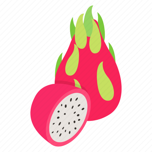 background, dragon, exotic, food, fruit, isometric, tropical icon