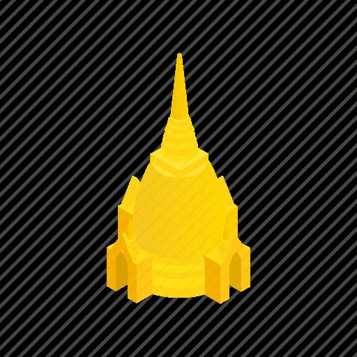 asia, background, bangkok, isometric, temple, thailand, travel icon