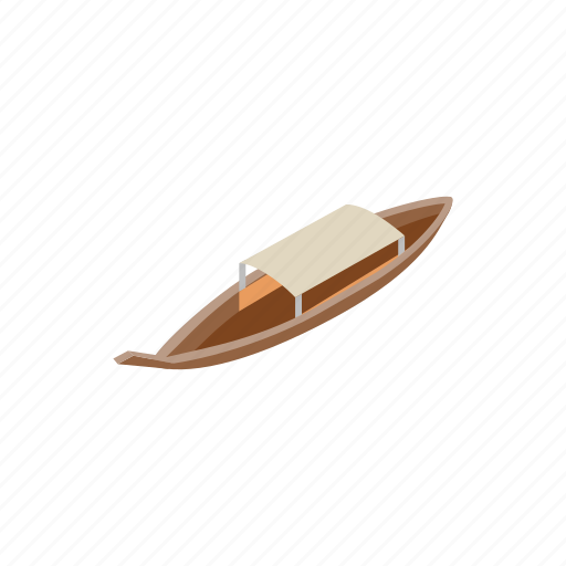 background, boat, isometric, river, thai, thailand, water icon