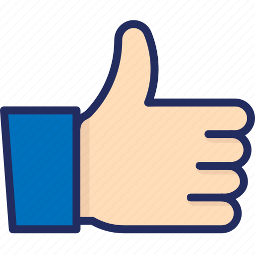 facebook, hand, like, love, order complete, thanks icon
