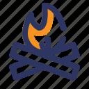 adventure, bonfire, camp, farm, night, thanksgiving icon
