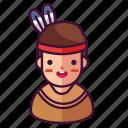 boy, man, native icon
