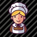 girl, pilgrim, woman icon