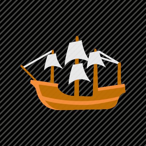 boat, mayflower, pirate ship, ship icon