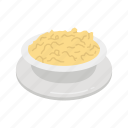bowl, mashed potatoes, potatoes, stuffing icon