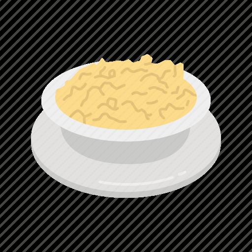 bowl, mashed potatoes, potatoes, stuffing icon