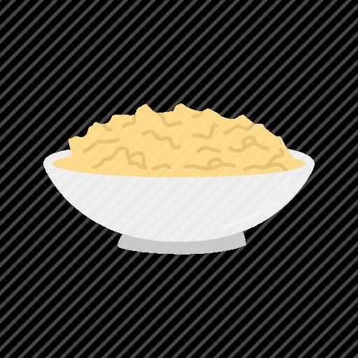 bowl of stuffing, mashed potatoes, stuffing, thanksgiving icon